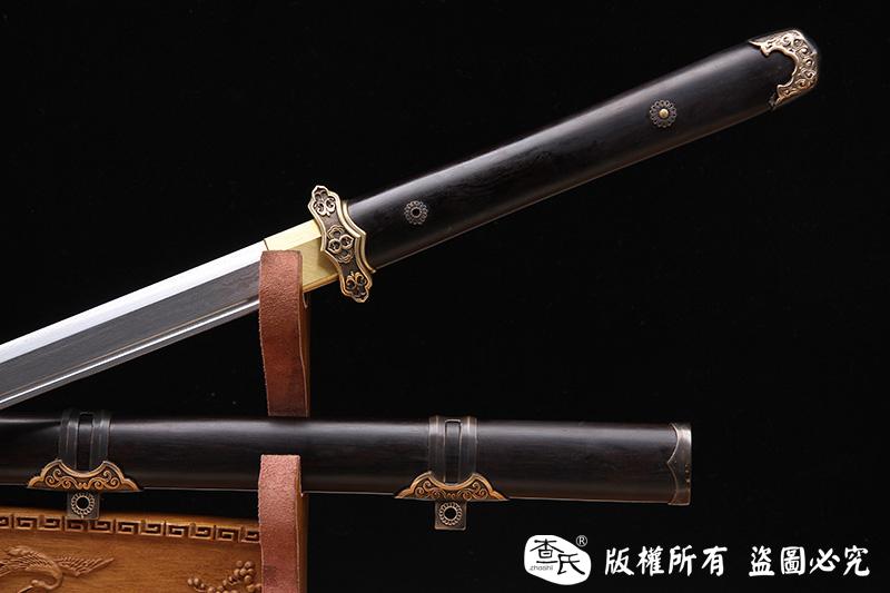 黑檀木经典百炼钢唐刀