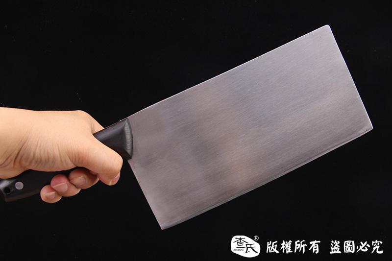 檀木柄方头不锈钢夹钢菜刀