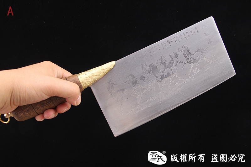 方头不锈钢夹钢菜刀