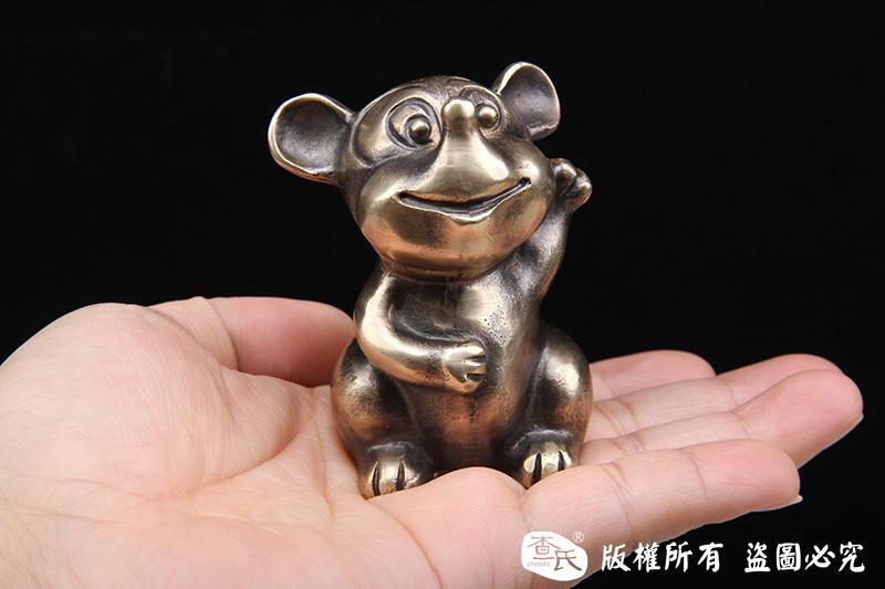 纯铜米老鼠-实心打造