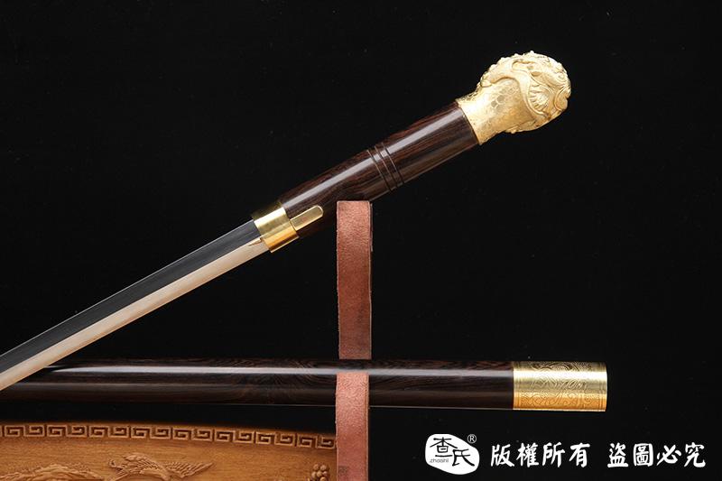 《神兽手杖剑》全铜打造的神兽把手